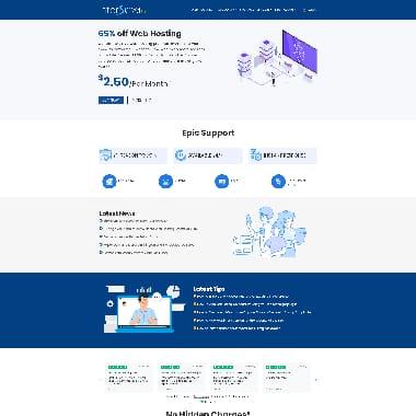 Interserver HomePage Screenshot